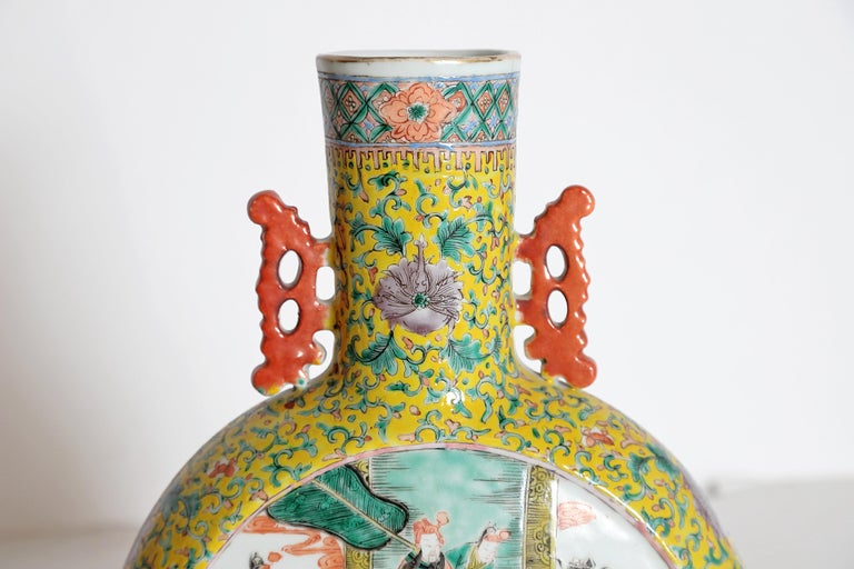 Pair of Chinese Porcelain Moon Flask Vases For Sale 7