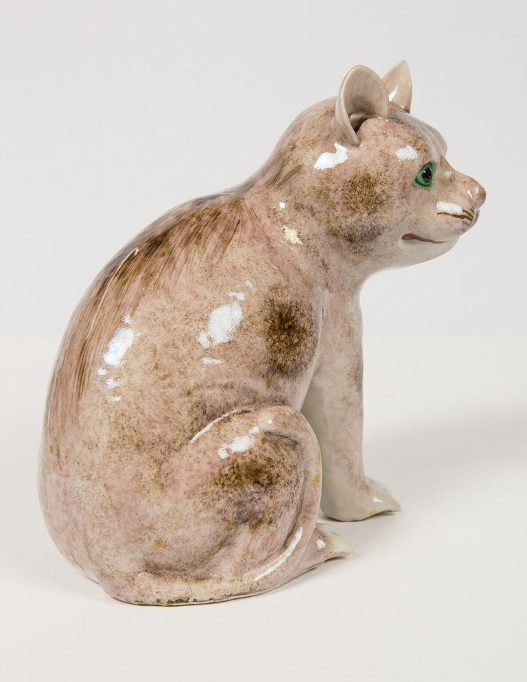 Pair of Chinese Stoneware Cats Qing Dynasty 19th Century For Sale 6