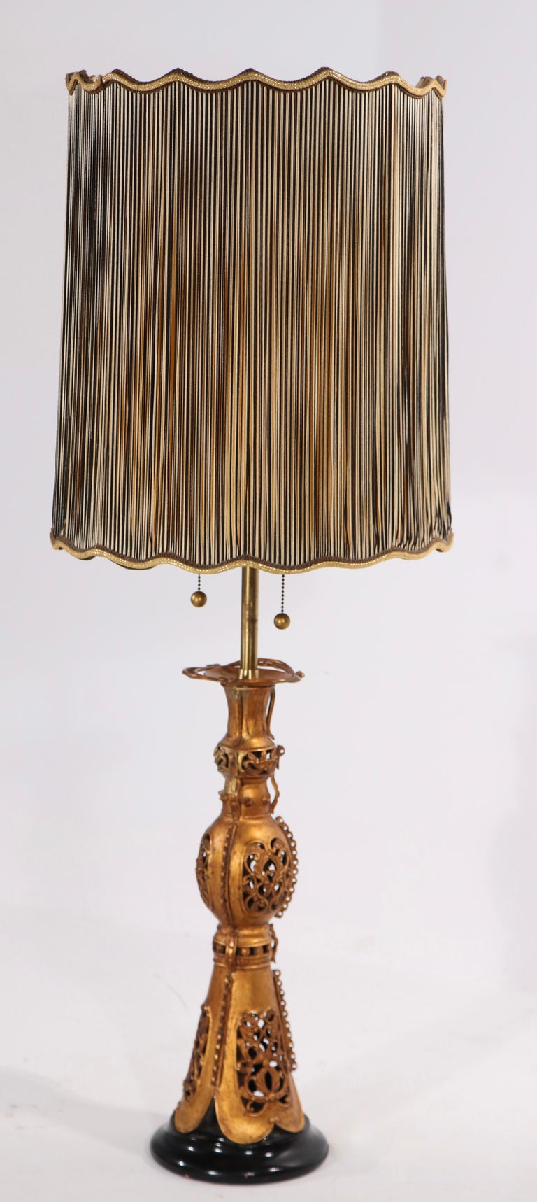 20th Century Pair Chinese Style Table Lamps by Marbro After James Mont For Sale
