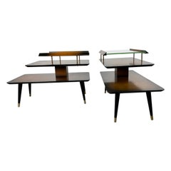 Pair Classic Mid-Century Modern End Tables by James Philip Co.