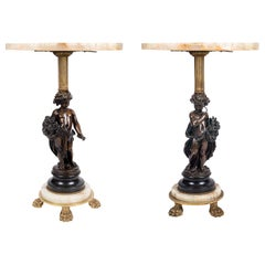 Pair of Classical Bronze Side Tables