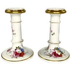 Pair of Coalport Porcelain Candlesticks, circa 1830