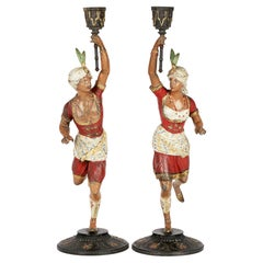 Egyptian Revival Candle Holders