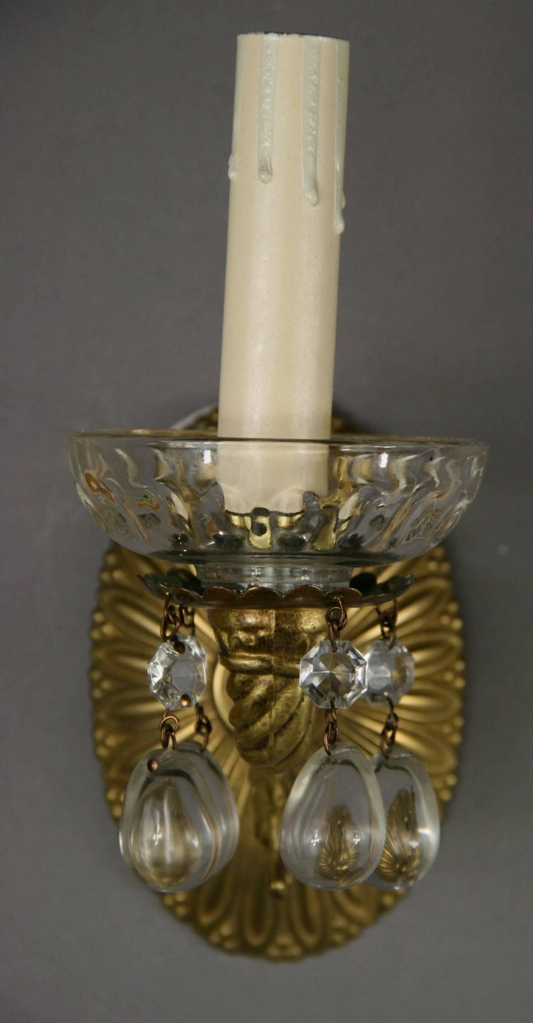 Late 20th Century LIGHTING SALE UP TO 50% OFF SELECTED ITEMS Pair of Crystal Drops Sconce For Sale