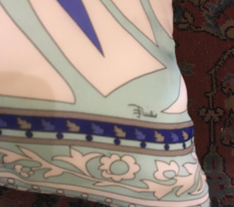 Pair of Custom Vintage Silk Emilio Pucci Pillows For Sale 1