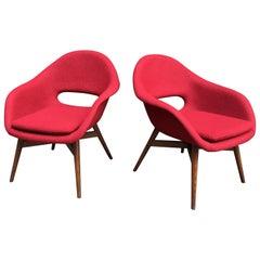 Pair of Czech Lounge Chairs by Miroslav Navratil