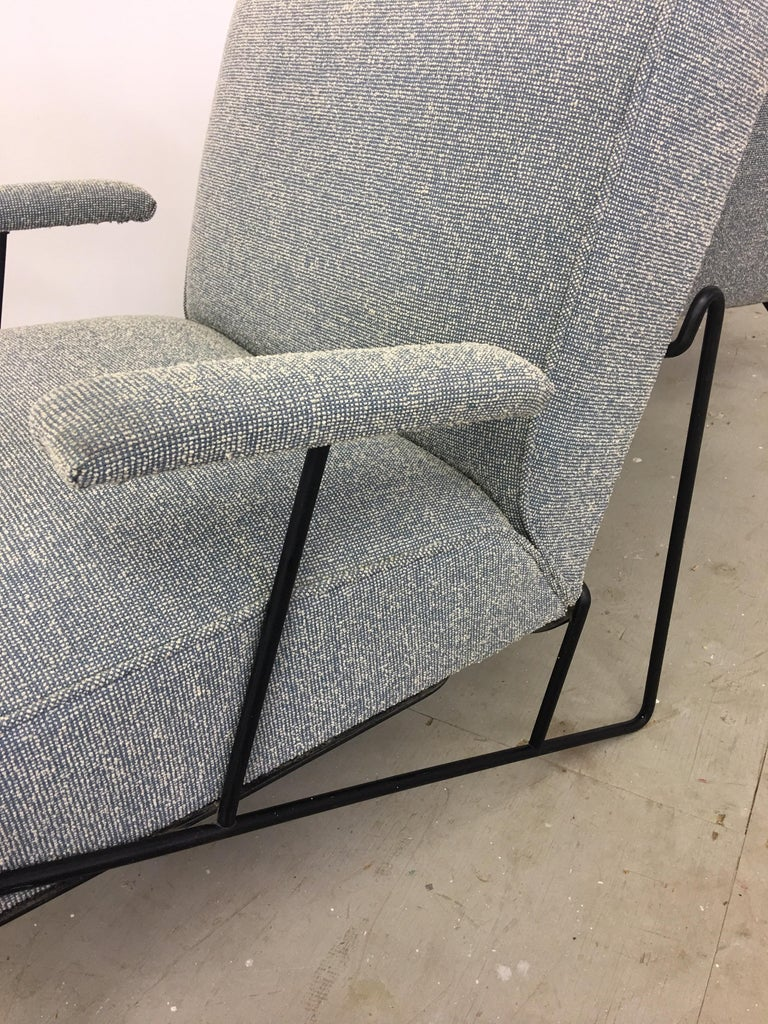 Pair of Dan Johnson Lounge Chairs for Pacific Iron For Sale 3