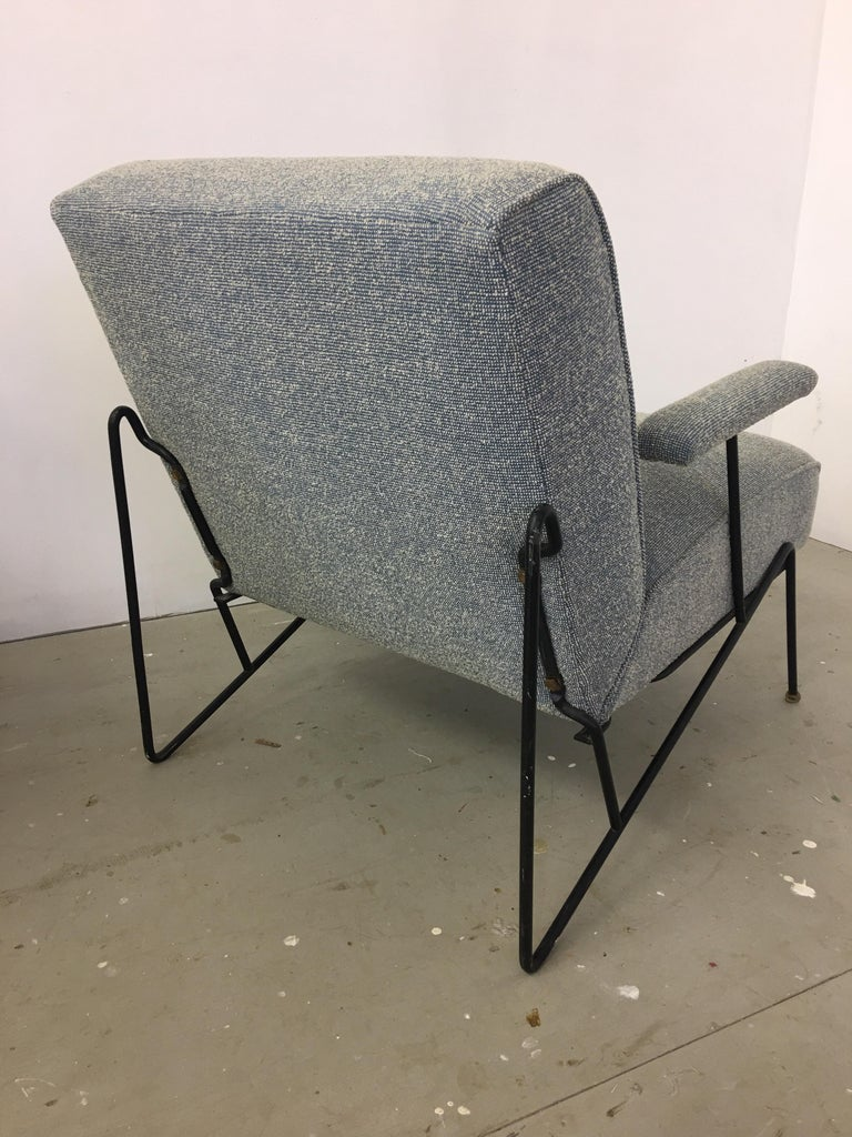 Mid-Century Modern Pair of Dan Johnson Lounge Chairs for Pacific Iron For Sale