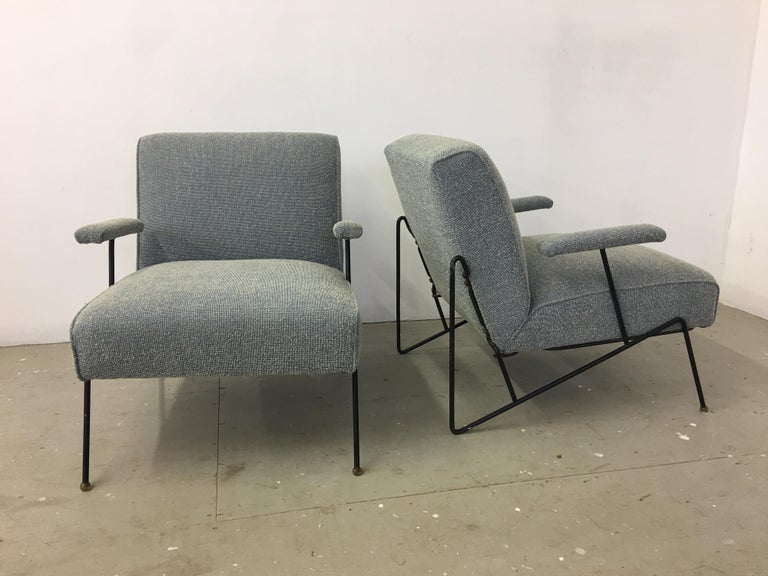 American Pair of Dan Johnson Lounge Chairs for Pacific Iron For Sale