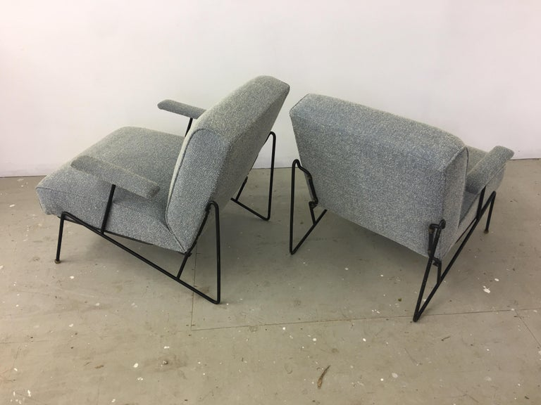 Pair of Dan Johnson Lounge Chairs for Pacific Iron In Good Condition For Sale In Philadelphia, PA