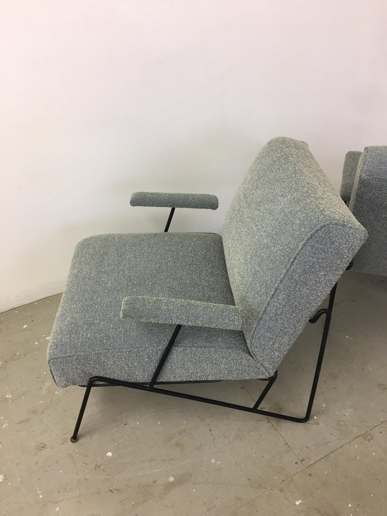 Pair of Dan Johnson Lounge Chairs for Pacific Iron For Sale 1