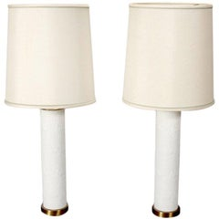 Pair Danish Ceramic Table Lamps by Bjorn Wiinblad