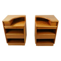 Pair Danish Teak Nightstands by Brouer Mobelfabrik