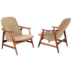 Pair of Danish Wood Armchairs