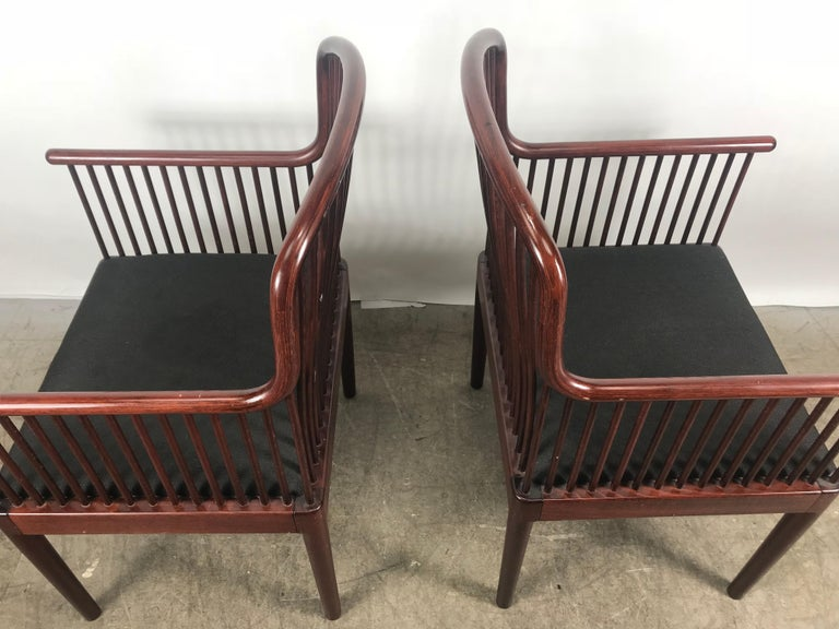 Mid-Century Modern Pair Davis Allen Andover Armchairs for Stendig of Italy For Sale