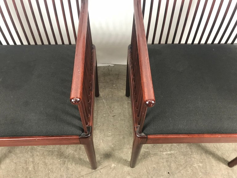 Lacquered Pair Davis Allen Andover Armchairs for Stendig of Italy For Sale