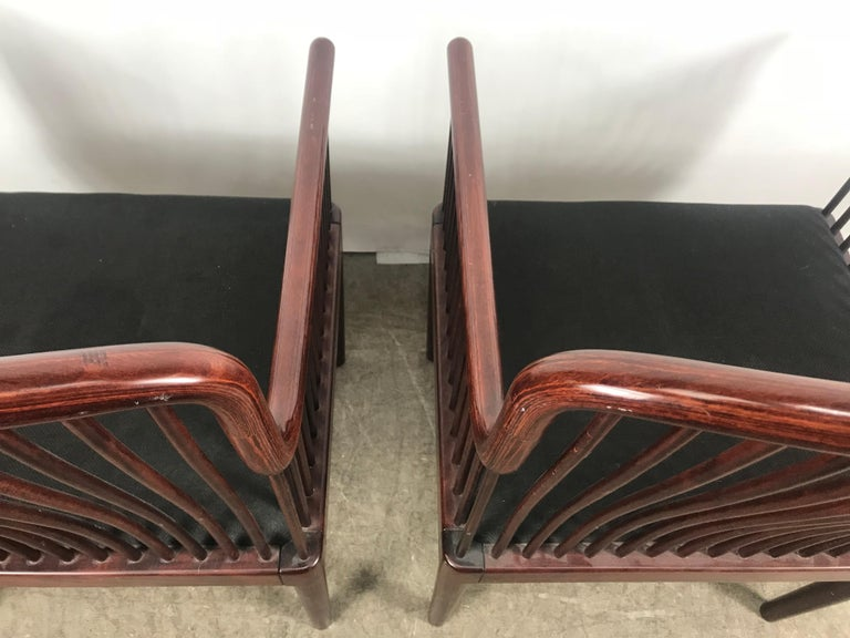 20th Century Pair Davis Allen Andover Armchairs for Stendig of Italy For Sale