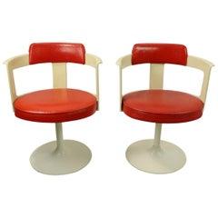 Pair of Daystrom Swivel Tulip Chairs