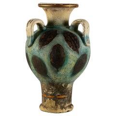 Pair of Deco Greek Amphora Pottery Vases