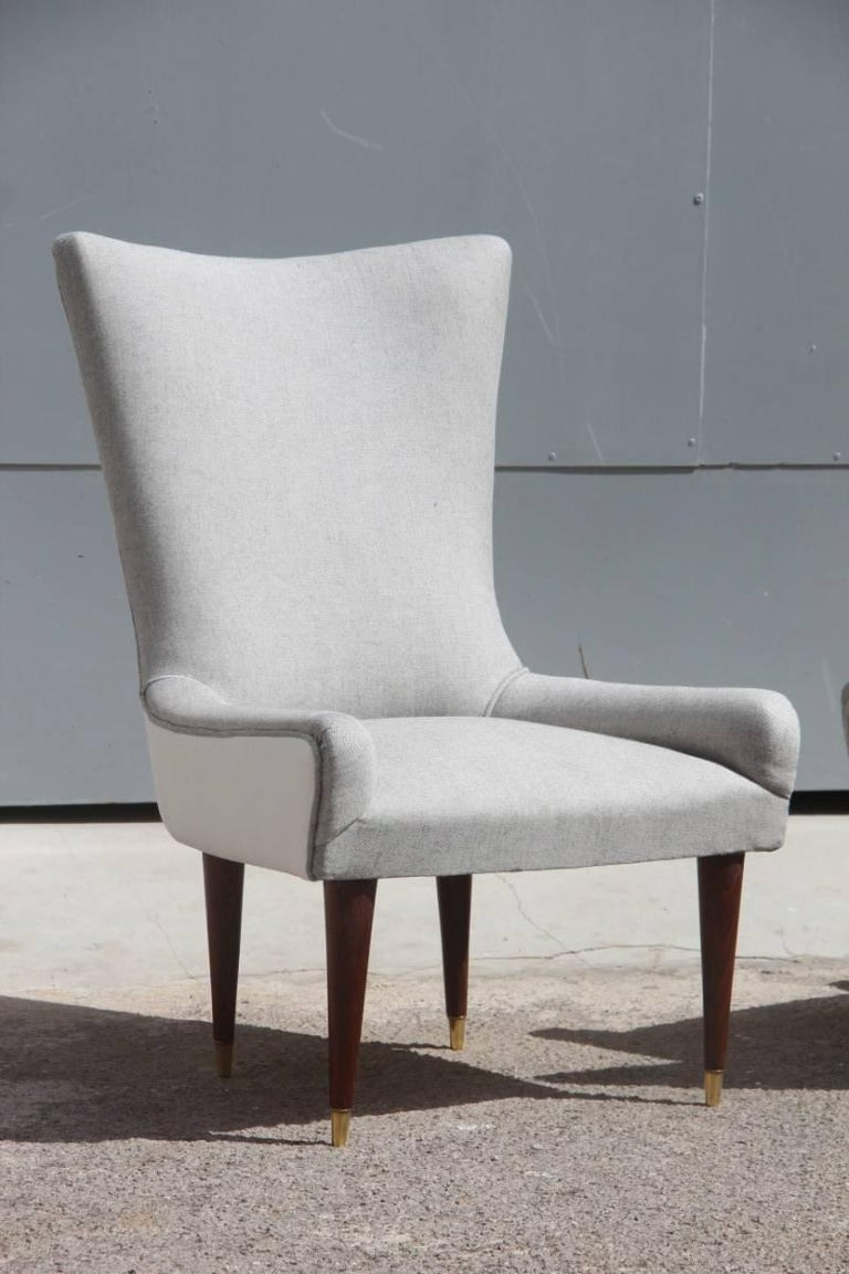 Surprising Pair Of Design Chairs Italian Chic And Modern Design 1950S Made In Italy White Ocoug Best Dining Table And Chair Ideas Images Ocougorg
