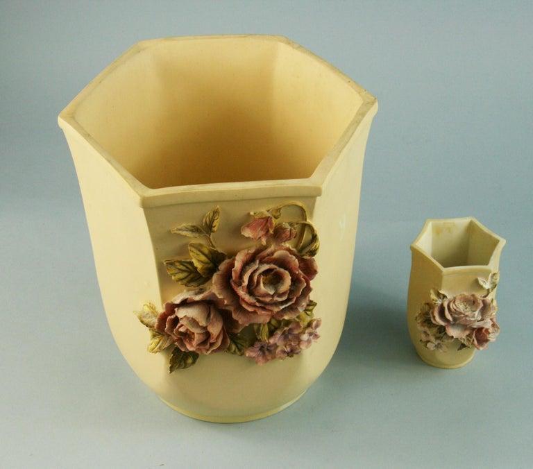 Pair Desine Resin Hand Painted Garden  Vases For Sale 2