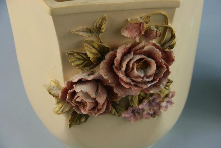 Pair Desine Resin Hand Painted Garden  Vases For Sale 3