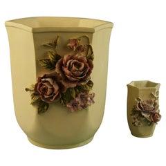 Pair Desine Resin Hand Painted Garden  Vases
