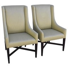 Pair of Dining Captain Side Chairs by Swaim
