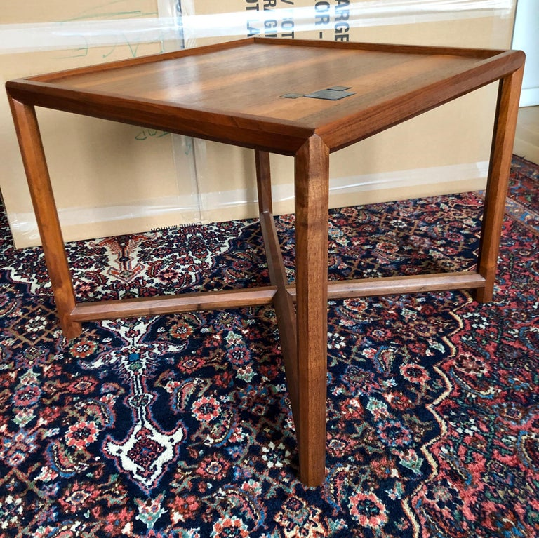 Pair of Dunbar Janus End Tables with Tiffany Tiles For Sale 5