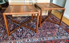 Pair Dunbar Janus End Tables with Tiffany Tiles