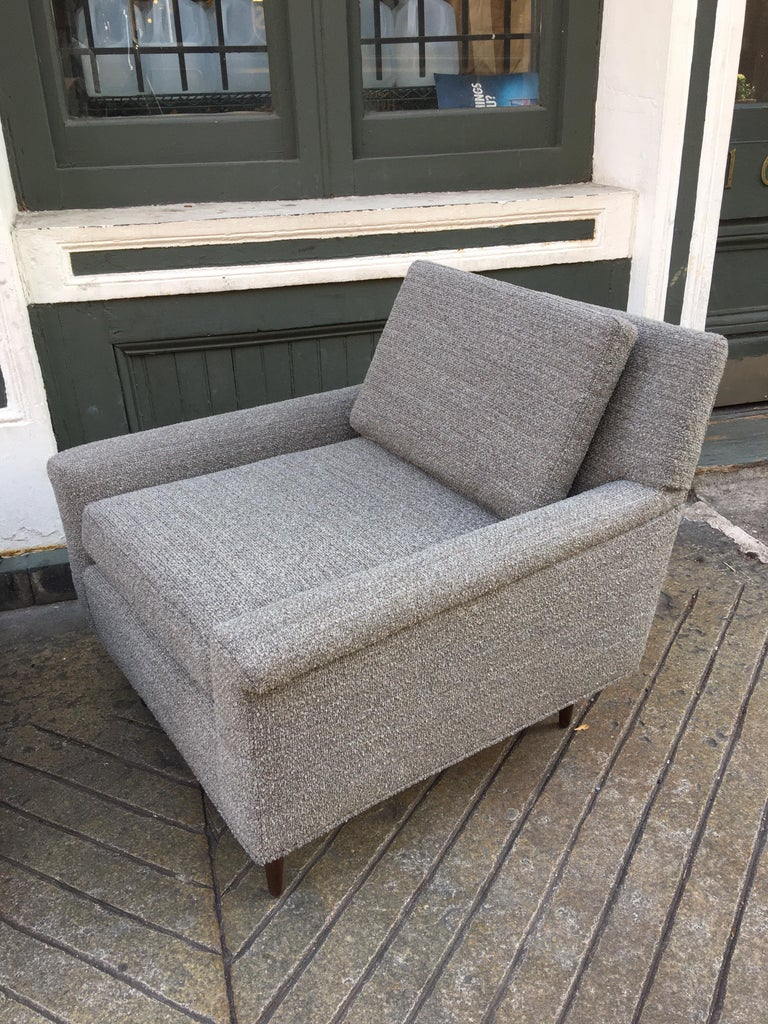 Pair of DUX Lounge Chairs, Newly Upholstered In Good Condition For Sale In Philadelphia, PA