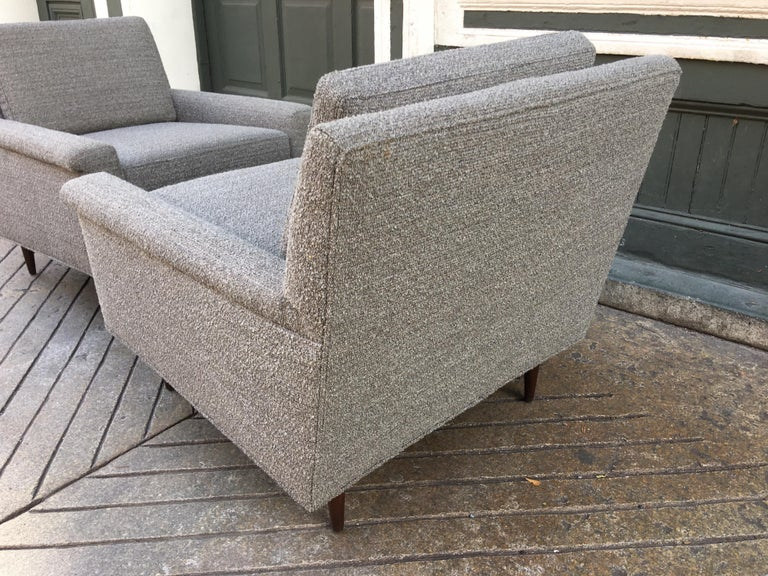 Upholstery Pair of DUX Lounge Chairs, Newly Upholstered For Sale