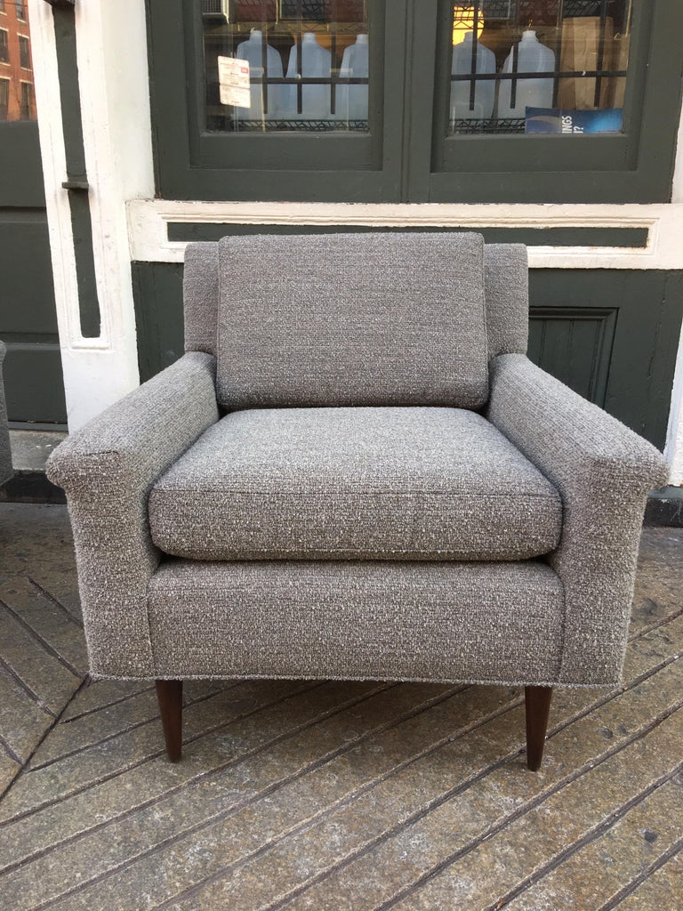 Pair of DUX Lounge Chairs, Newly Upholstered For Sale 2