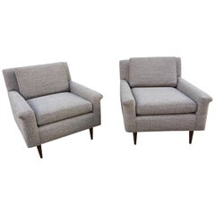 Pair of DUX Lounge Chairs, Newly Upholstered