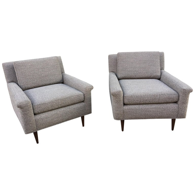 Pair of DUX Lounge Chairs, Newly Upholstered For Sale