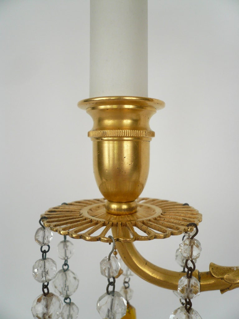20th Century Pair E. F. Caldwell Marble, Bronze, and Wedgwood Candelabra form Lamps For Sale