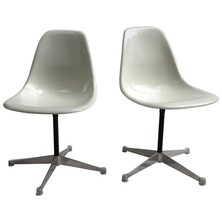 Pair of Eames for Herman Miller Fiberglass Chairs For Sale