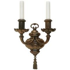 Pair of Early Georgian Style Bronze Sconces by E.F. Caldwell