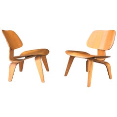 Pair of Early Production Eames L C W's, 5-2-5- Screw Configuration