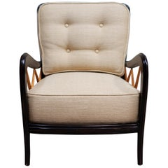 PAIR of Ebonized Ash ITALIAN FAUTEUILS