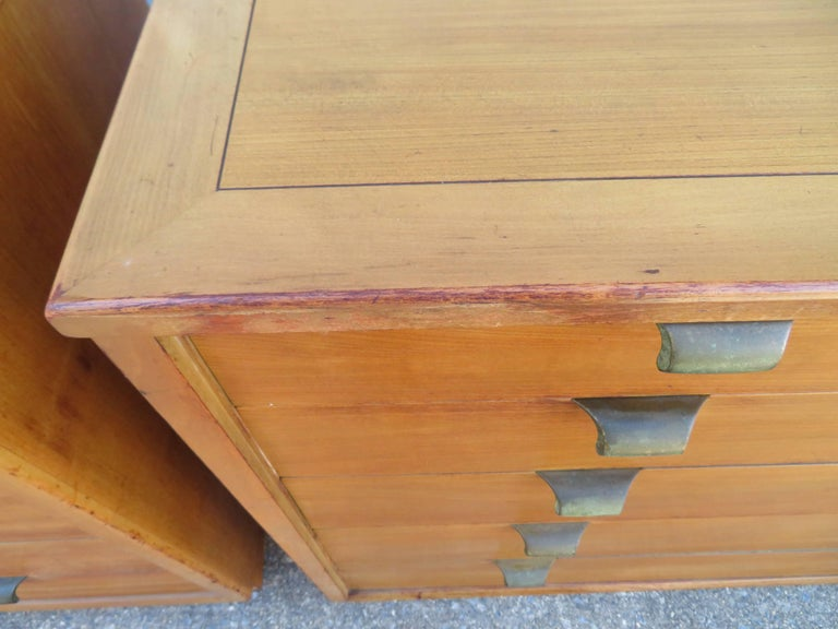 Pair of Edward Wormley Precedent Bachelor Chest Dressers, Mid-Century Modern For Sale 1