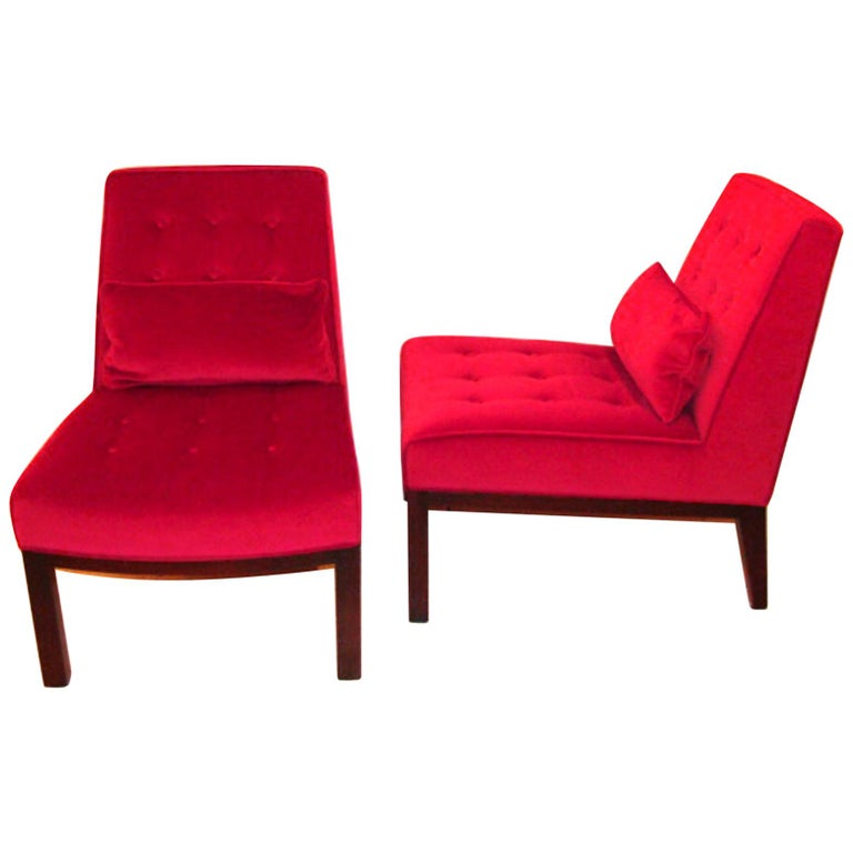 Pair of Edward Wormley/ Dunbar Lounge Chairs For Sale