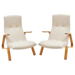 Pair of Eero Saarinen Grasshopper Chairs, circa 1945
