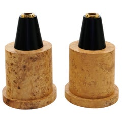 Ettore Sottsass Floor Vases from 27 Woods for a Chinese Artificial Flower, Pair