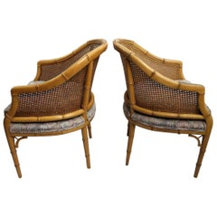 Pair of Faux Bamboo Chairs by the Century Chair Company
