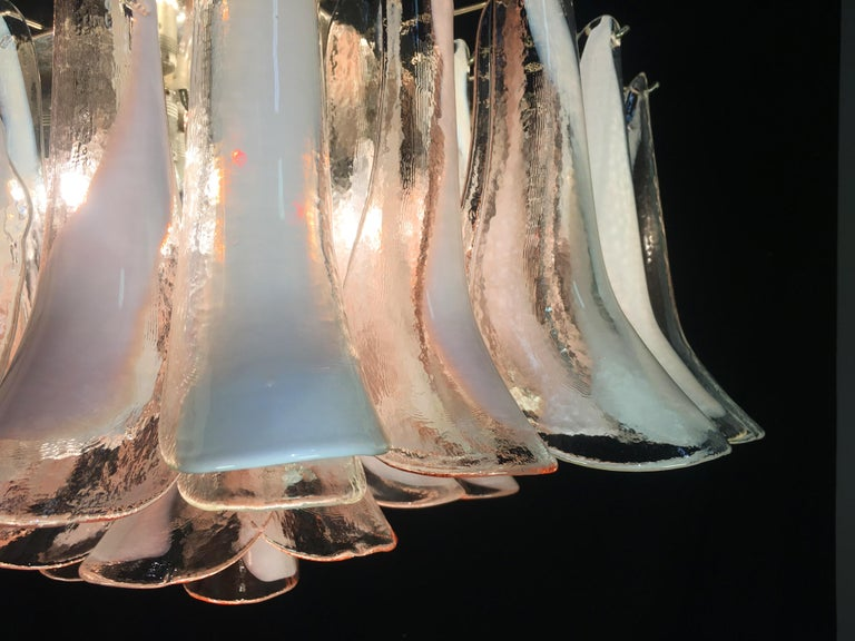 Pair of 'Flamingo' Italian Chandeliers Ceiling Lights, Murano 9