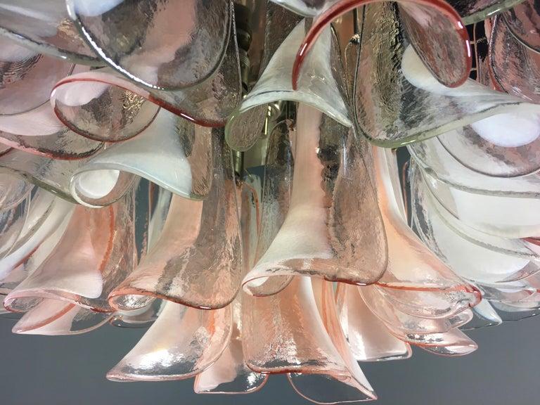 Pair of 'Flamingo' Italian Chandeliers Ceiling Lights, Murano 13