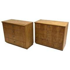 Pair of Founders Mid-Century Modern Bachelors Chests, Commodes or Nightstands