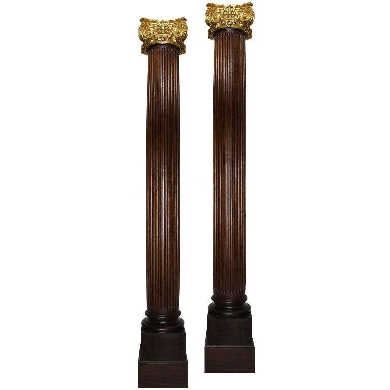French 19th-20th Century Louis XVI Style Architectural Corinthian Columns, Pair