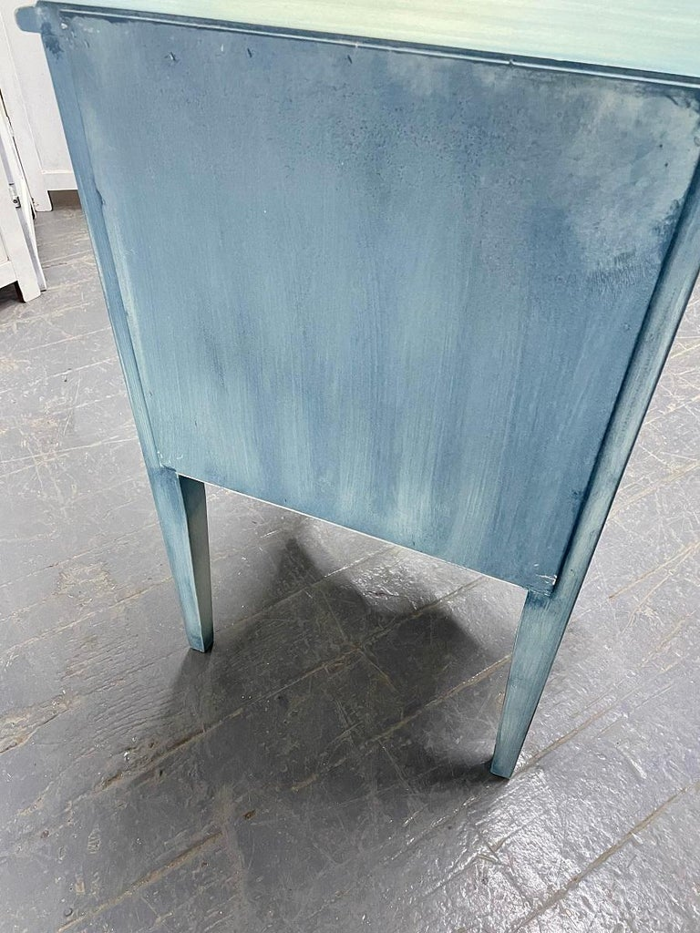 Pair French Antique Style Painted Nightstands For Sale 1